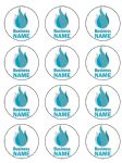 12 x Corporate Company Logo Edible Icing Cake Topper 2.1 inch each - pre-cut
